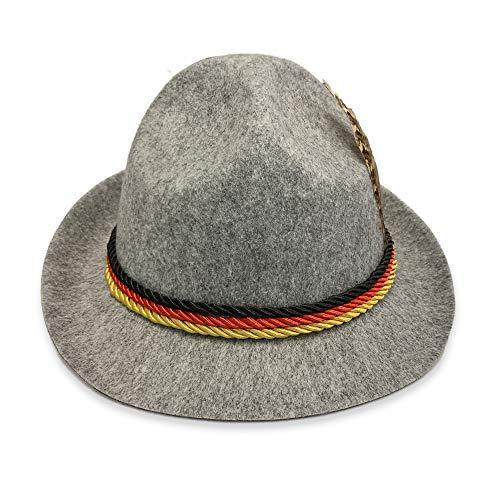 HG-amaon Deutsch Oktoberfest Paar Kostüme, Bar Arbeitskleidung, Alpine Kleidung S Grauer Hut