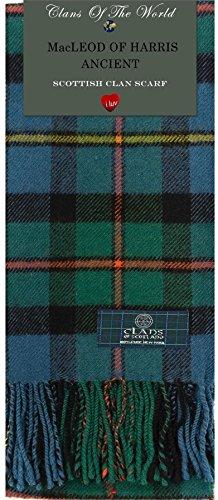 I Luv Ltd Macleod of Harris Ancient Tartan Clan Scarf 100% Soft Lambswool