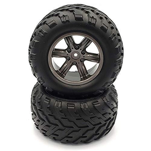 GDOOL 2PCS 15-ZJ01 RC Cars Tires Wheels Accessory Spare Parts for 1:12 9112 9115 S911 RC Car Trucks(2PCS)