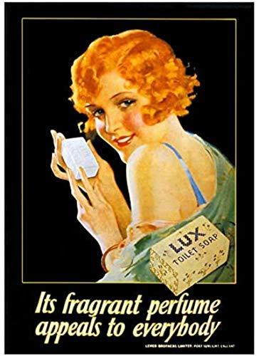 RZHSS Vintage Werbeplakat Seife Mit Parfüm Classic Leinwanddruck Wandkunst Gemälde Für Wohnzimmer Home Decor Geschenk-20X30 In No Frame