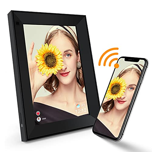 """Digital Photo Frame 9"""" WiFi Smart Digital Picture Frame with IPS HD Touchscreen, Remote Control, Built-in Battery, 8GB Storage, Auto-Rotate, Share Moments Instantly via AiMor App from Anywhere"""