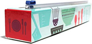 Chicwrap Cook's Tools Refillable Plastic Wrap Dispenser/Slide Cutter and 250' of Professional BPA Free Plastic Wrap