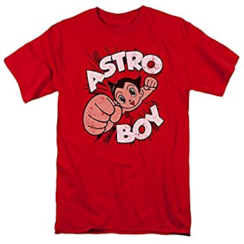 Astro Flying Boy Adult T-Shirt X-Large Red