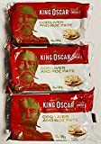 King Oscar Cod Liver and Roe Pate Canned 120g can From Norway pack of 3