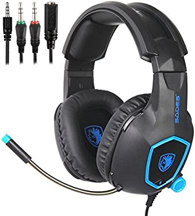 937ad1d999d SADES Gaming Headset for Xbox One, PS4, Nintendo Switch, Bass Surround  Sound Over