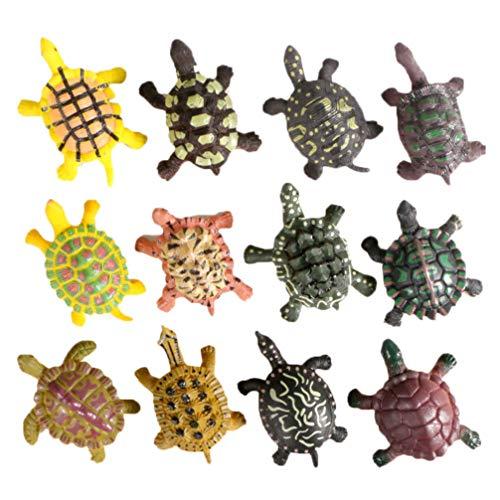 NUOBESTY 12 piezas mini tortuga estatuilla de hadas jardín animal casa de muñecas bonsái micro paisaje pastel decoración