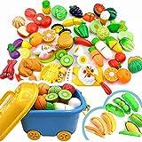 Goodvk Juega Comida Niños Que Hagan de Corte Frutas y Verduras Juguetes Juguetes de plástico de Cocina for 1-4 años de Edad Juguetes Educativos (Color : Multi-Colored, Size : One Size)