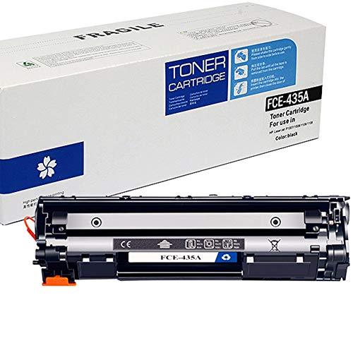 YCYZ Modelo CE435A - Cartucho de tóner compatible con HP P1005/P1006, cartucho de tóner láser para impresora HP P1005/P1006, color negro