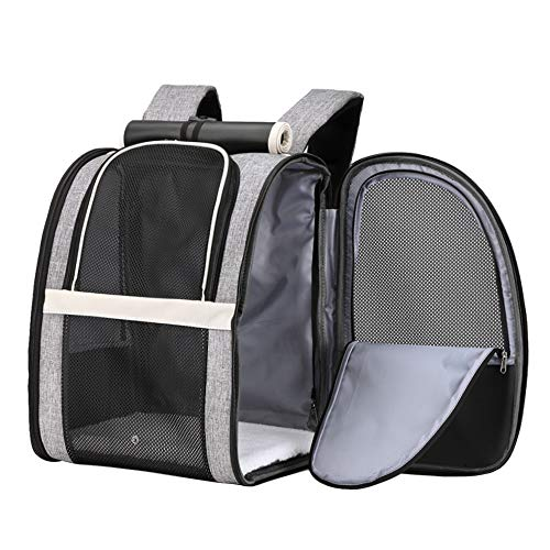 Texsens Pet Carrier Backpack with Window Blind for Small Cats Dogs, Ventilated Design, Safety Straps, Buckle Support, Collapsible, Designed for Travel, Hiking, Winter Outing, Outdoor, Go to Vet