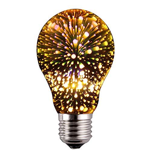 3D-Feuerwerkslampe, magisches Feuerwerk, Atmosphäre, Vintage, bunte LED-Lampe, Nachtlicht,...