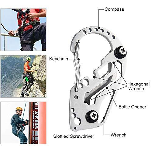 BUZIFU 3 stücke Keychain Multifunktions Schlüsselanhänger Kreative Schlüsselclip Flaschenöffner Schraubendreher Wort Schlüsselanhänger Tragbare Multifunktions Outdoor Werkzeuge