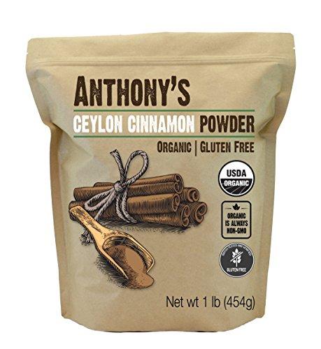 Anthony's Organic Ceylon Cinnamon Powder, 1lb, Ground, Gluten Free, Non GMO, Non Irradiated, Keto Friendly