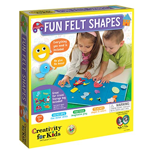 Creativity for Kids My First Fun Felt Shapes - Travel Friendly Felt Board for Toddlers (Imaginative Pretend Play for Kids, 100+Piece), Multi (1274000)