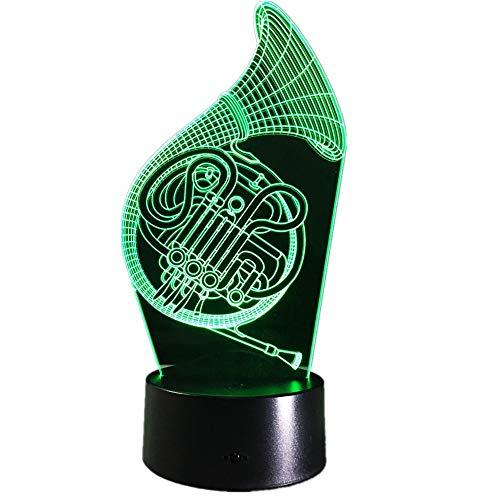 Sproud French Horn Trompete USB wiederaufladbare Kinder Nachtlicht | Nachttischlampe | Tischlampen Schlafzimmer | für Kindergeburtstags-Weihnachtsgeschenke