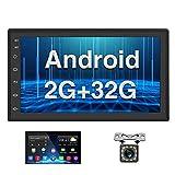 Android Coche Radio 2 DIN GPS CAMECHO 2G+32G 7 Pulgadas Pantalla táctil Completa Bluetooth WiFi Reproductor de Radio FM...