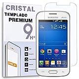 REY Protector de Pantalla para Samsung Galaxy Young 2 Cristal Vidrio Templado Premium