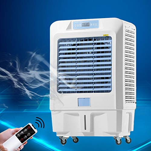 Air Cooler Mini Evaporative Cooler, Multi-layer Filtering, Intelligent Control of 120 Degree Wide-angle Air Supply, Ultra Quiet, Low-energy, Portable Pulley, Provide Cooling for Your Home and Office