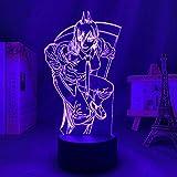 3D LED Decorative lights 3d LED Night Lamp Anime Art Online Figure for Bedroom Decor Night Light Birthday Gift Room Led Night Light Manga Desktop Orns