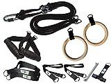 BodyCROSS Kit Suspension Trainer | Entrenador de suspensión con Anillas de Gimnasia olímpicas