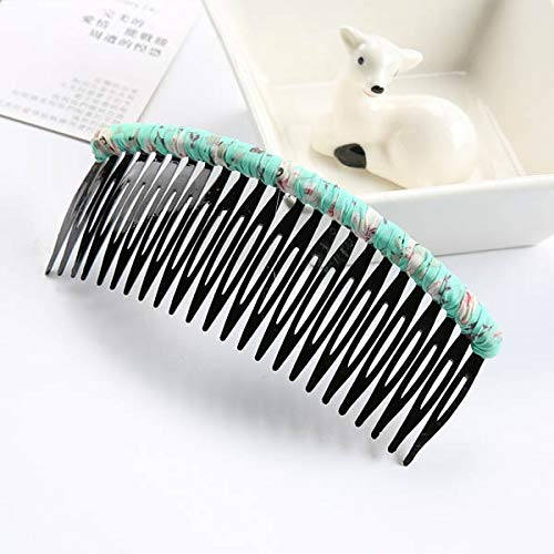 Nologo HHTC Tissu enroulement Bangs Disque en Plastique Peigne Hairpin Barrettes Femmes Cheveux Pin Accessoires Bâtons Styling Outils Couvre-Chef Coiffe (Couleur : 8)