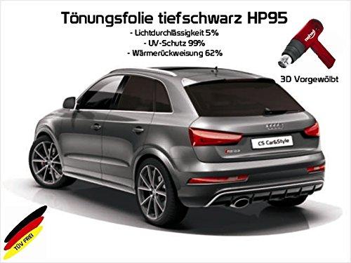 3 D Tönungsfolie passgenau vorgewölbt kompatibel mit Audi A4 B8 TYP 8K Avant Kombi Bj. 03/08-09/15 (tiefschwarz HP 95 Lichtdurchlässigkeit 5% Wärmerückweisung 62%)