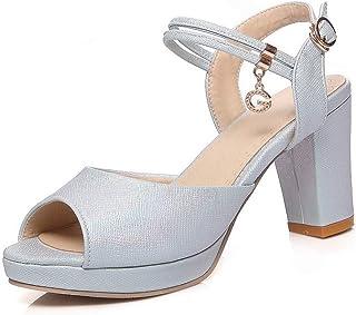 BalaMasa Womens ASL06660 Pu Heeled Sandals