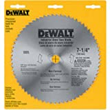 DEWALT 7-1/4' Circular Saw Blade, Metal Cutting, 5/8-Inch and Diamond Knockout Arbor, 68-Tooth (DW3329)