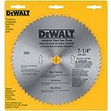 DEWALT 7-1/4' Circular Saw Blade, Metal Cutting, 5/8-Inch and Diamond Knockout Arbor, 68-Tooth (DW3329),Silver