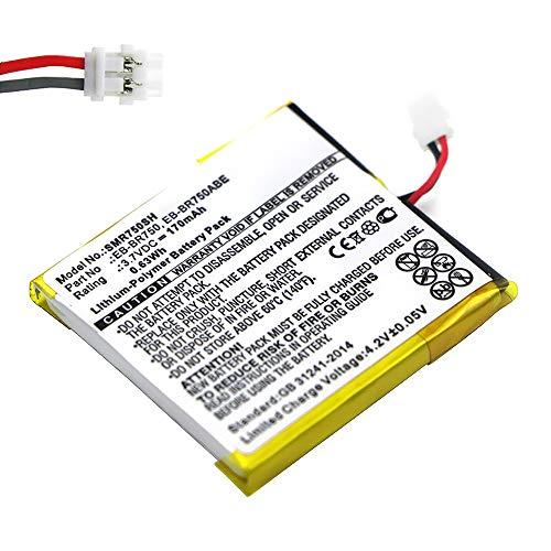 subtel® Batería Premium para Samsung Gear S (SM-R750 / SM-R750V / SM-R750B / SM-R750D) (170mAh) EB-BR750ABE bateria de Repuesto, Pila reemplazo, sustitución