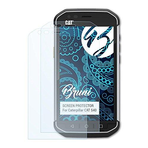 Bruni Schutzfolie kompatibel mit Caterpillar CAT S40 Folie, glasklare Bildschirmschutzfolie (2X)