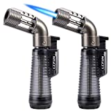 Torch Lighter 2 Pack Jet Flame Lighter Refillable Gas Butane Lighter Single Jet Lighters Butane Torch Lighter-Butane NOT...