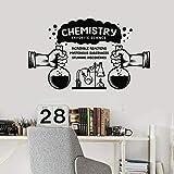 Calcomanías de pared material de ciencia laboratorio de química aula escolar decoración de interiores puertas y ventanas pegatinas de vinilo papel tapiz de texto