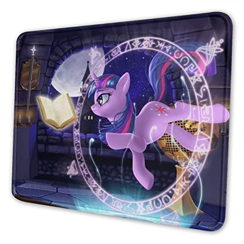 My Little Pony Gaming Mouse Pad with Stitched Edges Computer Mouse Mat Non-Slip Rubber Base for Laptop PC 12 X 10 X 0.12 Inches