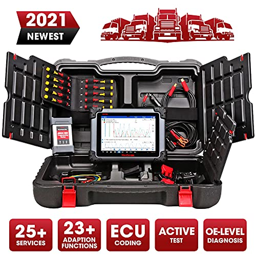 2021 Autel Scanner Maxisys 908CV for Commercial Vehicles, Professional Heavy Duty Scanner with 25+23 Service Functions, J-2534 Programming, Full-system Diagnostics, Same as Maxisys Elite, MK908P