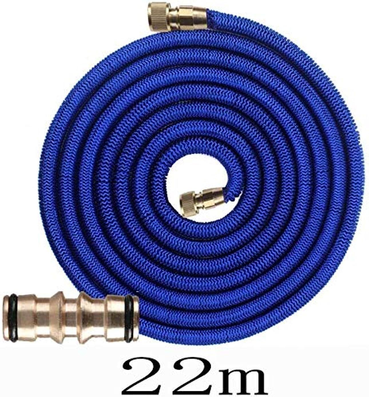 トレッドダース乏しい庭用灌漑システム 30M、ガーデンホースノズルスプレーS、合金、灌漑ツール@望遠鏡の水道管、シームレスパイプ、 (Color : 22m+twoway Joint)