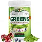 Biofy Limitless Greens Superfood Supplement, Best Tasting Mushroom Green Juice Powder to Increase...