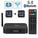 Android 9.0 TV Box,Greatlizard TX6 Android Box 4GB DDR3 32GB ROM...