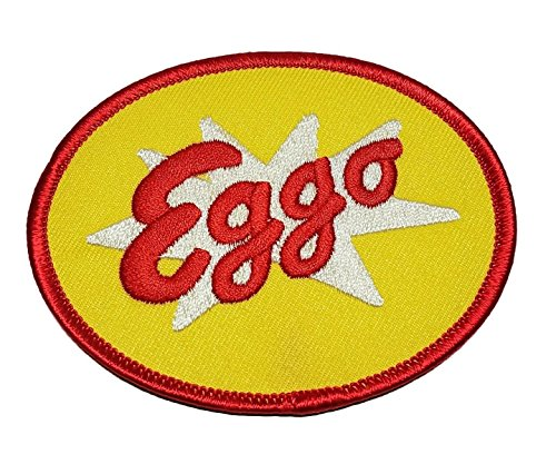 "Stranger Things TV Series Eggo Waffles Logo 3 1/2"" Wide Iron On Patch"