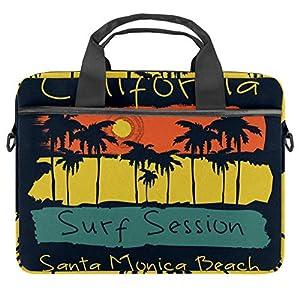 51Xx9hbHVJL. SS300  - LORVIES Surf California Santa Mónica Beach Surf Bolsa de hombro para portátil de 14 a 15.4 pulgadas