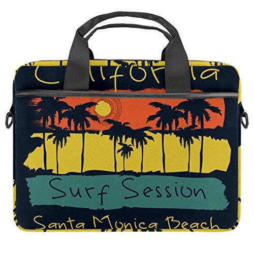 LORVIES Surf California Santa Mónica Beach Surf Bolsa de hombro para portátil de 14 a 15.4 pulgadas