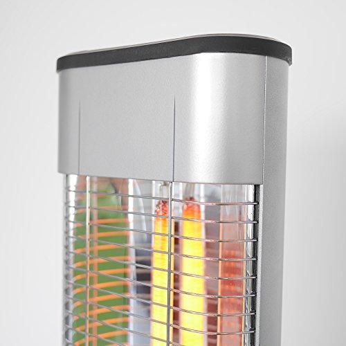 VASNER StandLine 25R – silber grau – Stand-Heizstrahler, 2500 Watt, Infrarotstrahler, Terrassenstrahler elektrisch - 3
