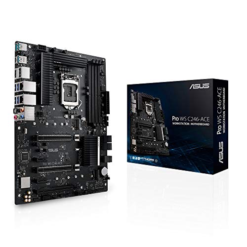 ASUS PRO WS C246-ACE Workstation Mainboard (ATX, Intel Skylake / Skylake-Refresh Serie, LGA 1151-2, 4x DDR4 2666 MHz ECC, PCIe 3.0, SATA, M.2, NVME, SATA, Dual LAN)