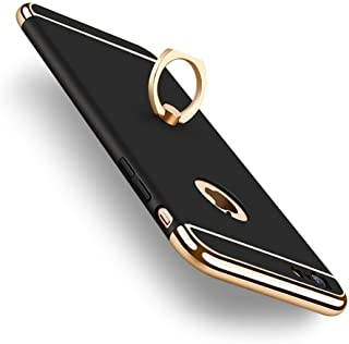 iPhone 6s Case, iPhone 6 Case, with Ring Stand, DINGXIN Stylish Slim Hard Case 3 Detachable Parts with Kickstand Full-Body Protective Cases for Apple iPhone 6/6S (Black)