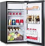 COSTWAY Kühlschrank mit Gefrierfach Standkühlschrank Gefrierschrank Kühl Gefrier Kombination/A+ / 91L / Schwarz