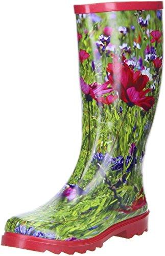 ConWay Damen Gummistiefel (Blumenwiese) Mehrfarbig, Größe:37;Farbe:Mehrfarbig