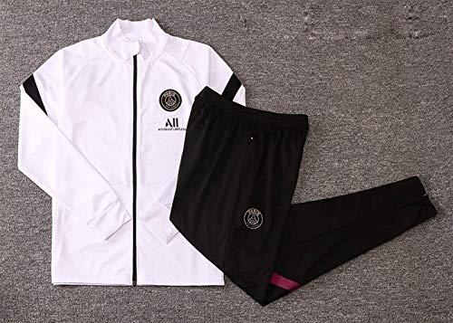 YDoo DZHTSWD 20-21 Competition Suit Paris Saint-Germain F.C.Men's Top + Pants Jersey Football Training Suit Adult Jacket Sportswear Suit Official Gift,Size:L (CH : Medium)