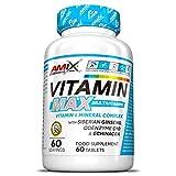 AMIX - Vitaminas para el Cansancio - Performance VitaMax Multivitamin - 60 Tabletas - Contiene Vitaminas y Minerales - Ideal para Deportistas de Resistencia - Complejo Vitamínico Completo