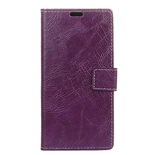 fancartuk Kompatibel mit BlackBerry Aurora Hülle Leder, PU Brieftasche etui Schutzhülle Tasche Slim Flip Case Cover mit Magnetverschluss für BlackBerry Aurora (Lila)