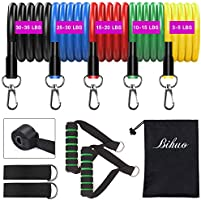 Bihuo Resistance Bands for Legs and Butt, Booty Bands Set No Slip Workout Bands Men/Women Exercise Band Stretch with Bag...