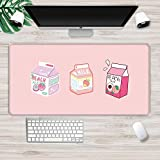 Gaming Mouse pad Milk Pink Strawberry Peach Kawaii Mouse Pad XXL Mouse Pad Laptop Desk Pad Pc Gamer Mouse Pad XL(30x80cm)